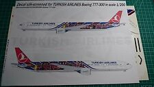 Boeing 777 Turkish Airlines Barcelona Gio Decals 1/200