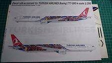 Boeing 777 Turkish Airlines Barcelona Gio Decals 1/200