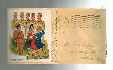 1943 USA Patriotic Cover Fort Niagra NY US Army Soldiers Looking at Girls AAS