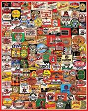 Jigsaw puzzle Entertainment Beer Bottle Labels 1000 piece NEW Made in USA