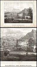 Salzburg  Maria - Plain  Original-Lithographie 1850
