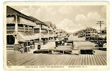 Ocean City NJ - PARK PLACE FROM BOARDWALK - Postcard