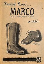 27 PONT DE L' ARCHE CHAUSSURES MARCO PUBLICITE 1949