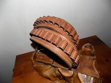 WESTERN LEATHER .357 CAL SHELL AMMO CARTRIDGE BELT~HOLDS 39 ROUNDS USA MADE