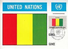 United Nations Nr. 352 Guinea - Flagge / Maxi-Card