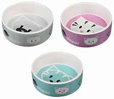 Mimi Cat Bowl Ceramic Food Water Feeding Dish 0.3L