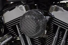 """CHROME MESH 5.5"""" ROUND AIR CLEANER ASSEMBLY FOR HARLEY SPORTSTER 1991-06 CV CARB"""