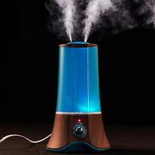 1.5L Ultrasonic Aroma Humidifier LED Light Air Diffuser Purifier 2 Mist Outlet