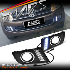 MARS Bumper Bar LED DRL Day-Time Fog Lights Cover for Volkswagen VW Amarok 11-17