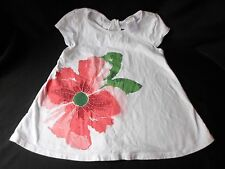 Gymboree white Shirt Top pink sparkle flower cap sleeve girls size 5