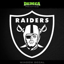 Oakland Raiders NFL -  White Vinyl Sticker Decal 5""