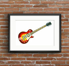 Pete Townshend's Cherry Sunburst Gibson Les Paul Deluxe #8 POSTER PRINT A1 size