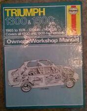 Triumph 1300 &1500 - Haynes Manual - 1965 to 1974