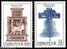 FAROE ISLANDS 1989 Havnar Church Torshavn short set 500o and 15k 2v MNH @S4098