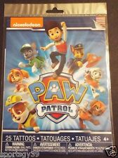 NEW 25 Nickelodeon Paw Patrol Temporary Tattoos Party Favors Chase Marshall Skye