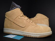 Nike Dunk Hi VT VAC-TECH PREMIUM QS WHEAT HAYSTACK BROWN BIRCH WHITE FLAX DS 12