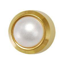 Studex Ear Piercing Pearl Stud Earrings 4mm Bezel Setting Gold Plated / Steel