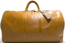 Louis Vuitton EPI KEEPALL 55 Reise Tasche Bag XL RARE Jipang Beige Braun GOLD