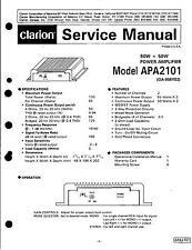 Clarion Service Manual für Amplifier APA 2101
