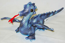 NEW SAND CRITTER FLYING DRAGON DARK BLUE WITH SILVER SPOTS 19cm PUCK DR6