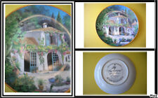 Collection Superbe assiette porcelaine Ma Provence Franklin Mint Limited Edition