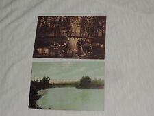 Antique Postcard Lot Saegertown PA Bridge Park Fishing (pt084)