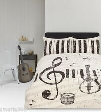 Maestro Music Notes Duvet Doona Quilt Cover Set | Guitar | Drums | Piano | King