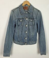 VINTAGE 90'S GUESS DENIM JACKET STONEWASH COAT FESTIVAL RETRO GRUNGE URBAN UK S