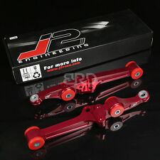 J2 SUSPENSION ALUMINUM FRONT LOWER CONTROL ARM FOR 90-93 INTEGRA/88-91 CRX RED