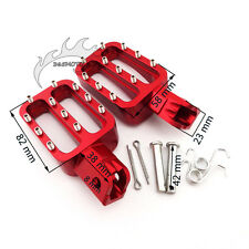 CNC Red Footpegs Foot Rest Pegs For XR50 CRF50 KLX110 Pitster YCF Dirt Pit Bike