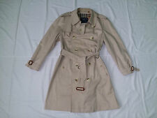 Burberry Prorsum vintage nova check beige women short trench coat size 46 Reg