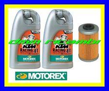 Kit Tagliando KTM 125 DUKE 10 11 + Filtro Olio MOTOREX RACING 20W/60 2010 2011