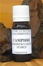 Huile Essentielle de CAMPHRE 10ml (cinnamomum camphora) Inde pure 100%