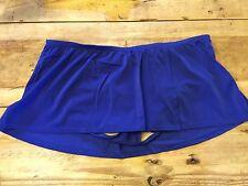 Agate Blue~18W~2X~Lane Bryant Plus Size Short Slitted Skirt Swimsuit Bottom