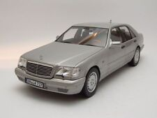 Mercedes S class S600 1997 (W140) silver, Model car 1:18 / Norev