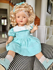 "Vintage Antique Composition Unmarked Shirley Temple LAL Baby Doll 16"" WOW Dress"