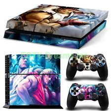 Street Fighter Video Game Ryu Ken Skin Sticker Decal Protector Playstation PS4