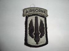 MILITARY PATCH US ARMY COMBAT USED SET ACU HOOK AND LOOP 18TH FIELD ARTILLERY AB