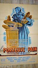 fernandel LA PORTEUSE DE PAIN  ! affiche cinema ( boulangerie ) 1934