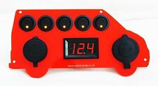 VW T5 Shape Red Switch Panel Voltmeter USB Cigarette Socket 12V