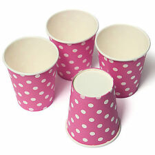 10 pcs Pink Polka Dots Disposable Paper Cups Wedding Party Tableware Drink