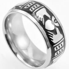 Claddagh Celtic Ring Titanium Stainless Steel Engagement SZ 7 8 9 10 11 12 13 14