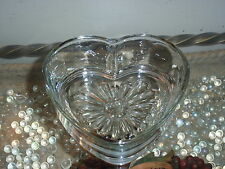 Libbey Glass Collectible Heart Shaped Glass Bowl Nut/Candy Dish