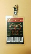The Venture Bros. Id Badge-Henchman In Training Access Pass cosplay costume prop