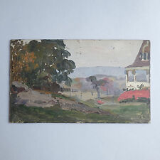 1908 Arts & Crafts Painting New Jersey Artist LISTED - Herman Magnuson Linding