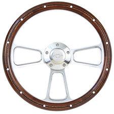 1960 - 1969 Chevy Suburban, 1969 Blazer Real Mahogany Steering Wheel & Adapter