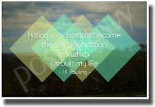 Hitting Rock Bottom - Boston Background - NEW Classroom Motivational Poster