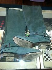 Coach 'Natale' Women's Size 8B Blue Gray  Knee High Riding Boots