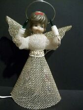 ANGEL LIGHTED TREE TOPPER  -  WINGS AND HALO