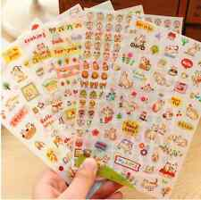 Kawaii Cute Cat PVC DIY Diary set of 6 Stickers QWQ